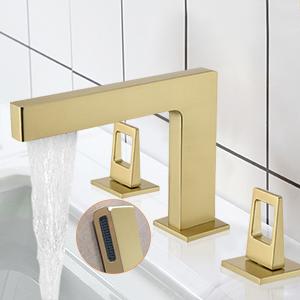 deck mount widespread vanity faucet
