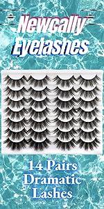 14 pairs lashes