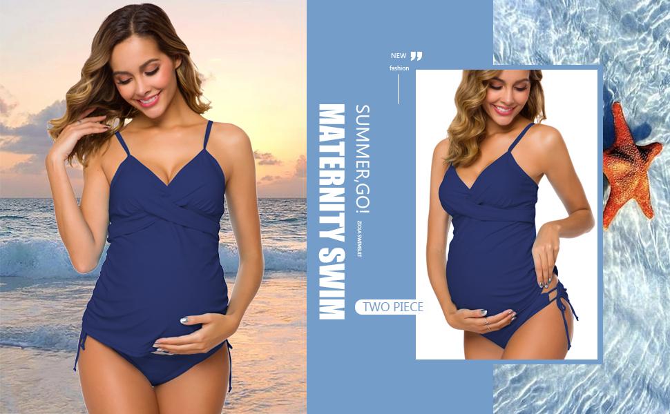 Retro Plum Wrap Front Tankini Swimwear Beachwear