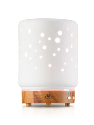 Starlight White 90mm Ceramic Light Wood Base Diffuser Home Kitchen