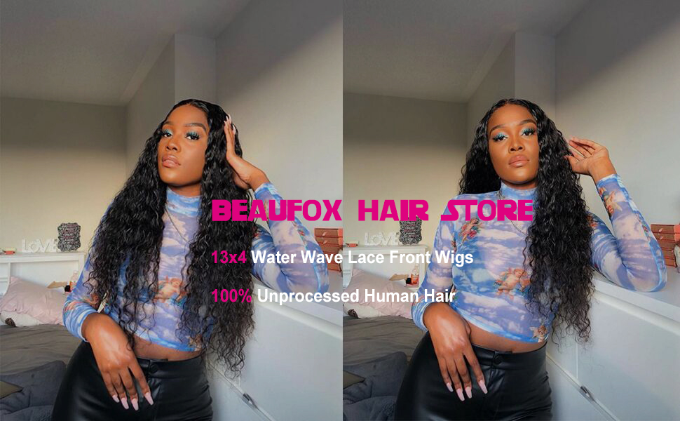water wave human hair wigs