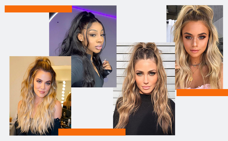 ponytail extensions for women's hair