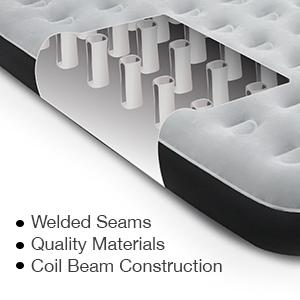 enerplex camping air mattress construction inner coil blow up air mattress inflatable bed
