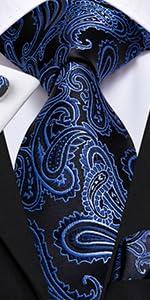 blue paisley tie for men
