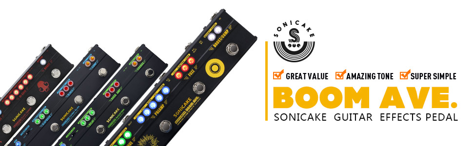 SONICAKE BOOM Ave. Bass Preamp DI Box Multi Effects Compressor Boost Fuzz Octave Pedal with FX Loop