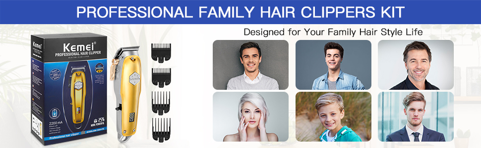 professional family hair clipper kit