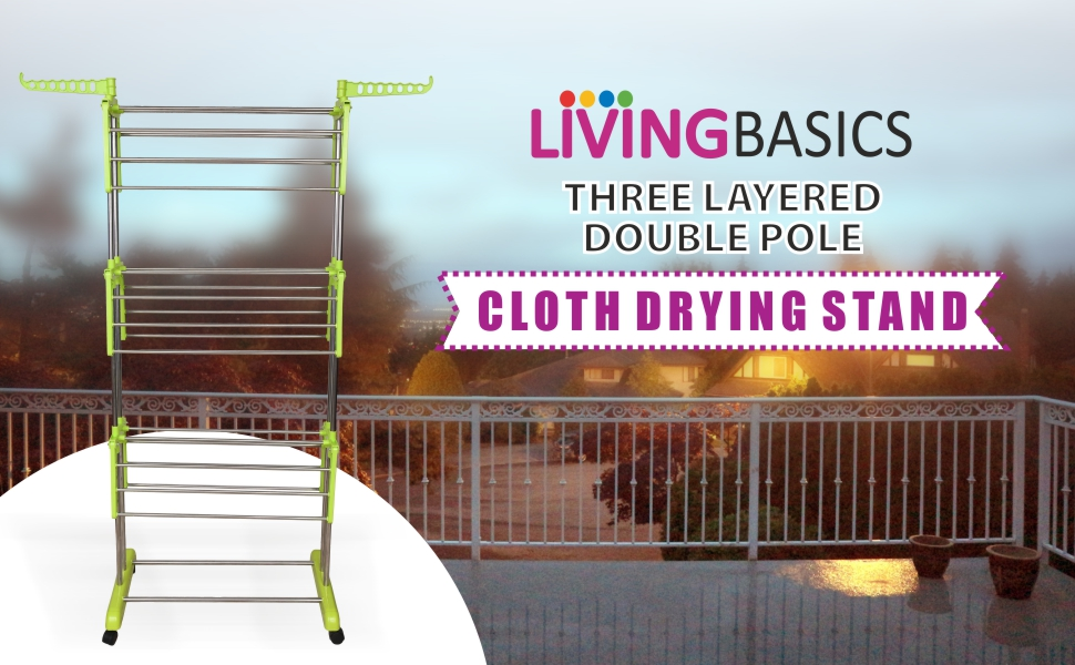 Living basics cloth drying stand cloth dryer drying clothes