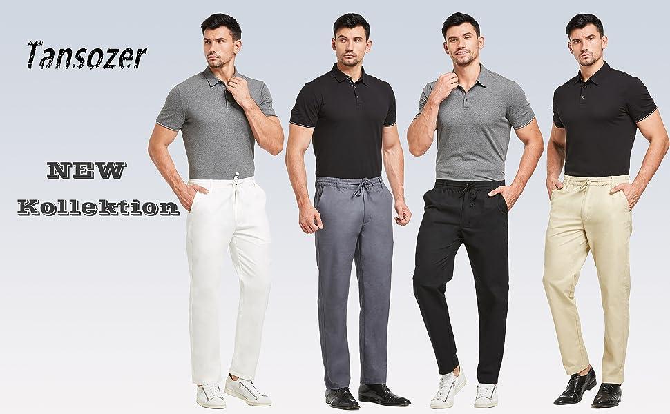 Mens elasticated waist trousers