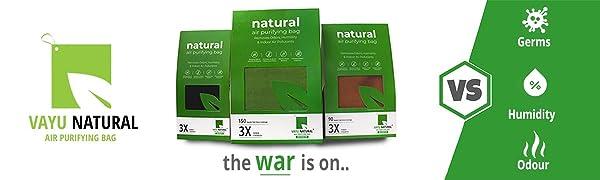 Vayu Natural Air Purifying Bags Activated Charcoal Deodorizer Air Freshener Dehumidifier