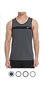 Giulot Unisex Jersey Tank Mens Training Quick-Dry Sport Tank Top Shirt for Gym Fitness Bodybuilding Running Jogging