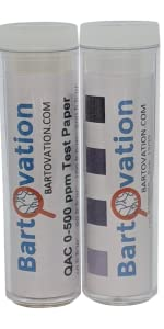quat chlorine test strip paper vials combo food service sanitizer testing strips