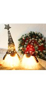 16Inch Lighted Christmas Plush Gnome, 2 Set