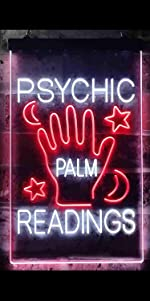 ADVPRO Dual Color LED Neon Sign light spiritual psychic fortune telling palm reading reader tarot