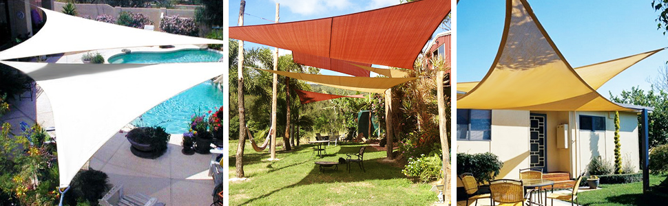 Kupton Kit para La Instalación de Toldos, Toldos de Velas Cuadradas y Rectangulares para Patio, Apto para Condiciones Extremas, 40PCS: Amazon.es: Jardín