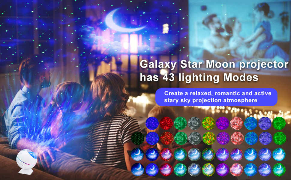 Galaxy projector Star Projector Night Light Ocean Wave Moon Light Projector for Bedroom