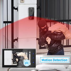 Instantan/é,Cadre Photo,1-Cam/éra 1-Moniteurs JSLBtech Vid/éo Sonnette Visiophone Syst/ème dinterphone,7 IPS 1080P avec Version Nuit IR,D/éverrouillage /à Distance//Enregistrement Automatique