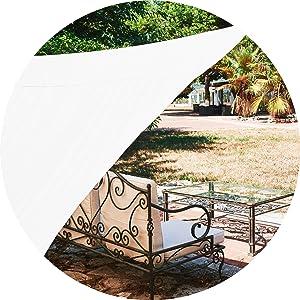 Toldo exterior Vela de Sombra Rectangular 2x3 metros, protección 98% Rayos UV, 100% poliéster, toldo Ultra Resistente e Impermeable para jardin, ...