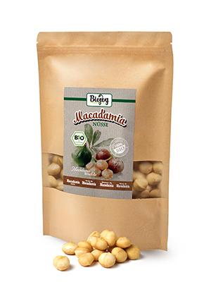 macadamia noten noot rauw heel ongezouten zonder zout zoutvrij niet gebakken gezond zuren eiwitten