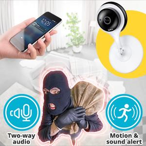 Instant Motion/ Sound Alert & Two-Way Audio