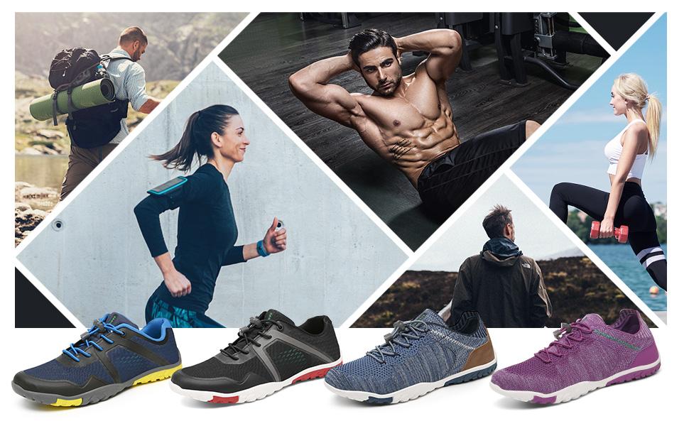 SAGUARO Unisex Barfu/ßschuhe Leicht Atmungsaktiv rutschfest Fitnessschuhe f/ür Indoor /& Outdoor