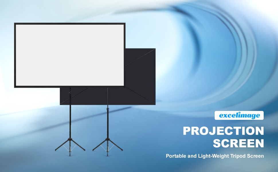Ultra light weight x-type portable projection screen