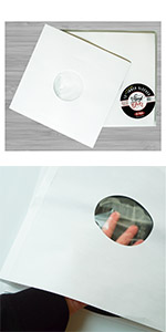 vinyl fever polylined paper inner sleeves for vinyl albums and scratch free storage