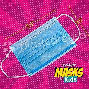 plastcare usa kids masks medical dental face astm doctor flu dust shield protector cover cloth