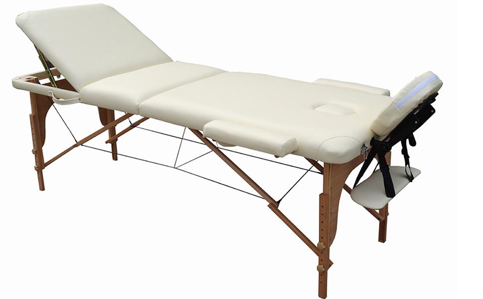 Dove Comprare Lettino Da Massaggio.Lettino Massaggio Classico 3 Zone In Legno Dimensione 195 X 70 Cm