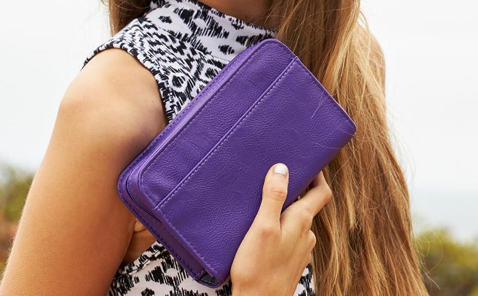 Purple banting diabetes wallet