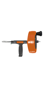 Metal Drill Drain Auger, 25 FT, Orange