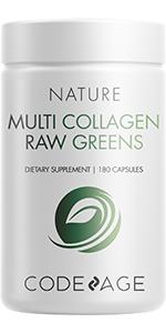 Codeage Multi Collagen Raw Greens