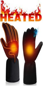 electric battery heated gloves cold weather warm winter heating themal handwarmer