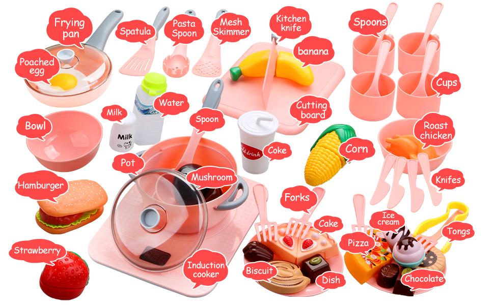 Food Toys Cooking Utensils