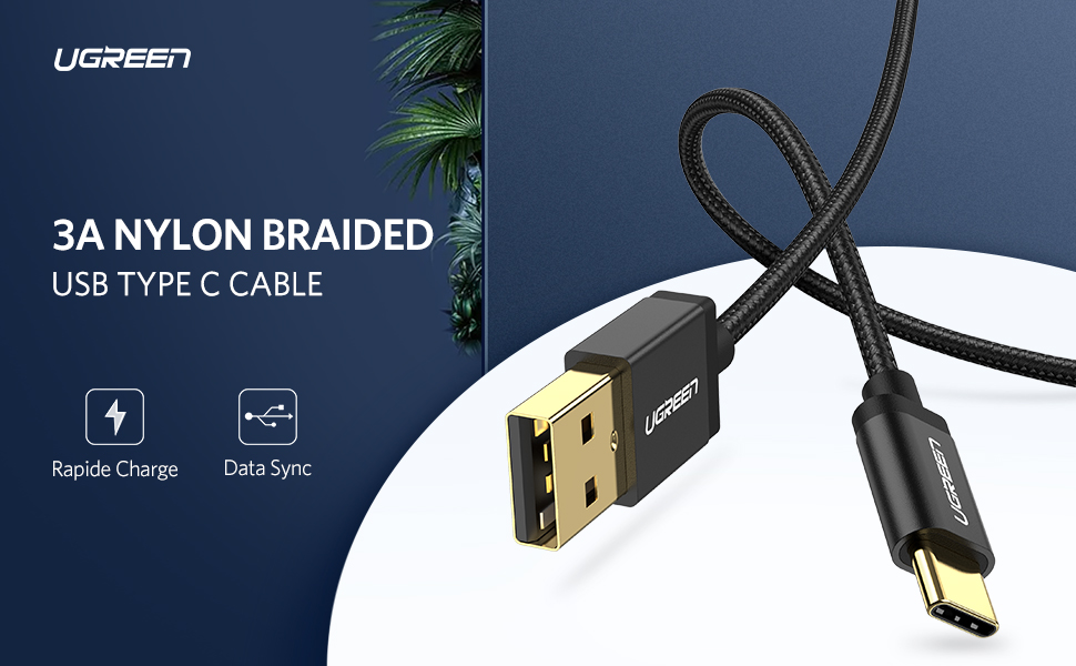 UGREEN USB type C cable fast charging cord
