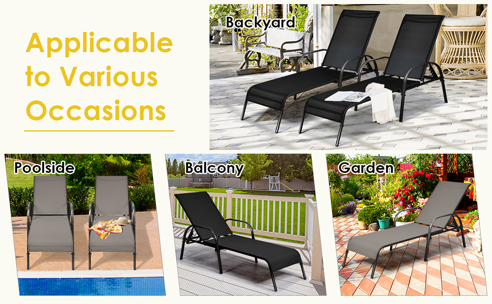 patio chaise set of 2