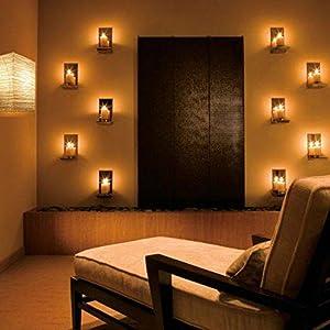 Yoga lamps relaxation art decor Chinese moody spa wallniture asian wall lamp rustic wall lights