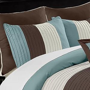 Loft matching euro shams and pillow shams close up view