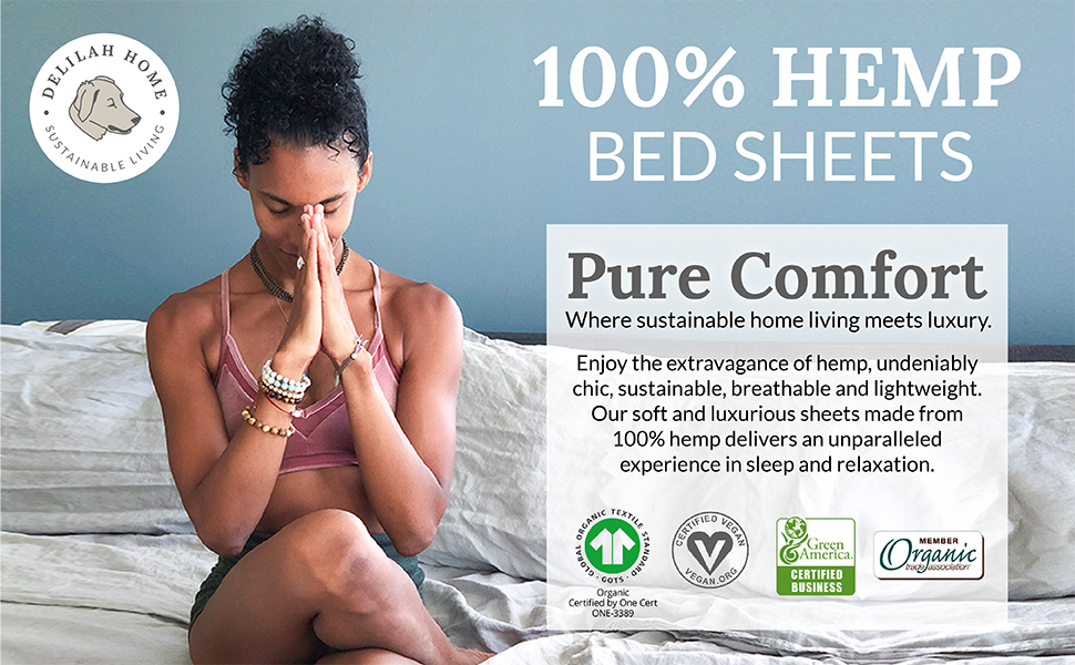 100% Hemp Bed Sheets
