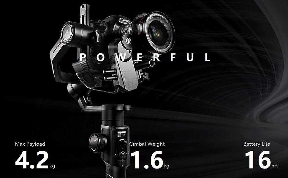 Moza Air 2 - Estabilizador de cámara DSLR de 3 Ejes, Carga útil de ...