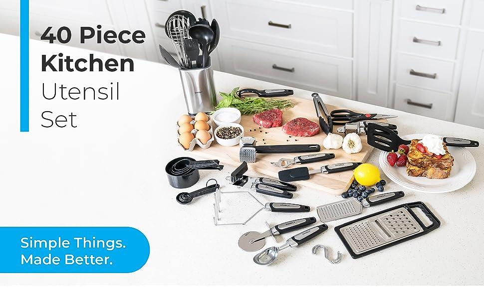 40 Piece Kitchen Utensil Set