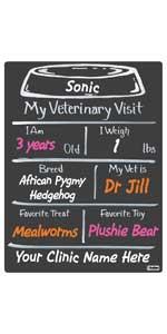 Vet Visit Milestone Board Veterinary Bowl Pets Animals