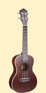 Ranch Ukulele 23 inch Professional Wooden Ukelele With Free Online Lessons coffee brown