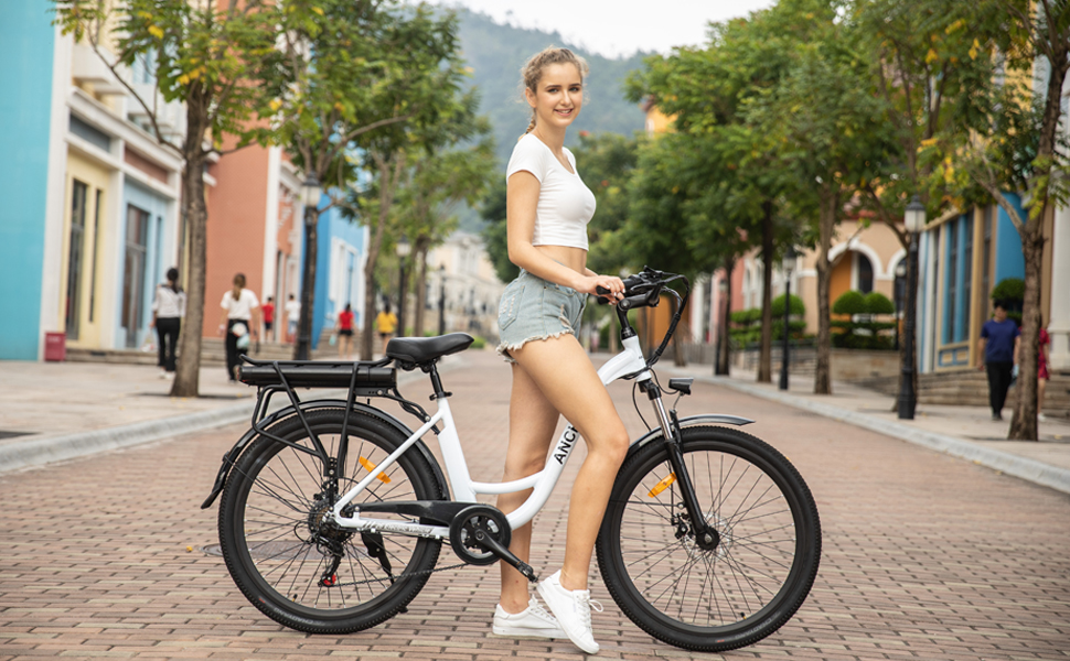 cheap ancheer womens city electric bike