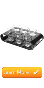 black modern acrylic shot glass party serving set server shot glasses shooters barware glassware