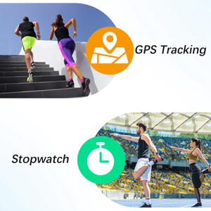 stop watch and gps tracking