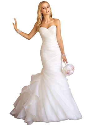 Sweetheart Ruched Organza Bridal Gown