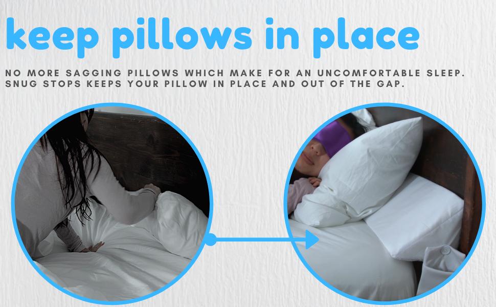pillows slipping stop pillows falling stuck pillows triangle pillow