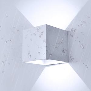 negro, blanco fr/ío Lightess Apliques de Pared LED Luz Moderna 10W L/ámpara Exterior Impermeable IP65 /Ángulo Ajustable 120/°Iluminacion Interior para Dormitorios Salon Modernas Jard/ín Camino Patio