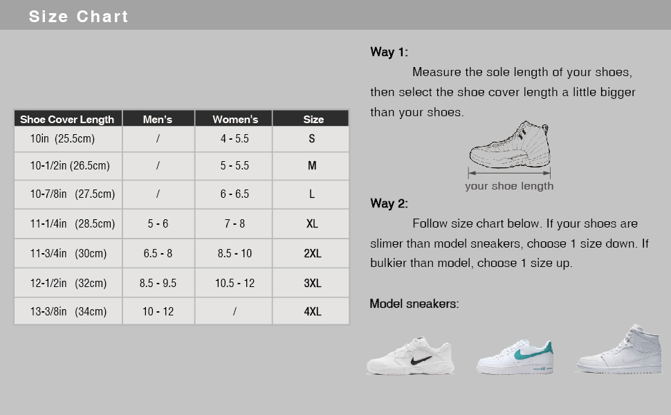 arunners size chart