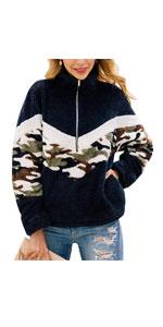 Long Sleeve Zipper Pullover Sweatshirt
